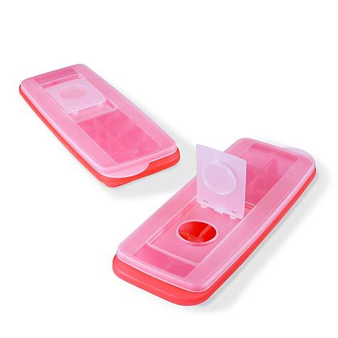 2-Pack Ice Cube Tray with Lid | Bed Bath & Beyond