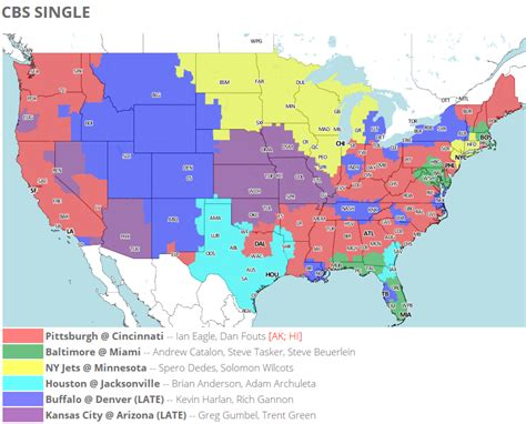 NFL Week 14 TV Schedule Maps: Colts-Browns Matchup