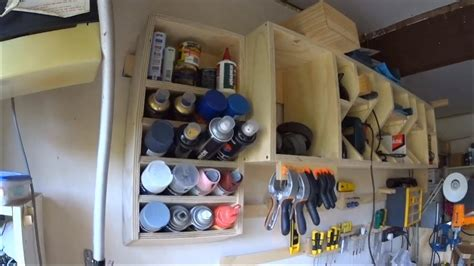 French Cleat Spray Paint and Can Rack - YouTube