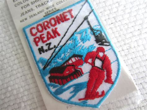 Vintage Coronet Peak New Zealand Iron On Patch Embroidered