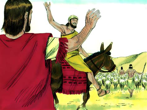 FreeBibleimages :: Abram (Abraham) and Lot separate
