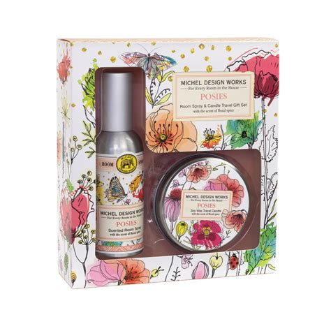 Michel Design Works Room Spray and Candle Travel Gift Sets