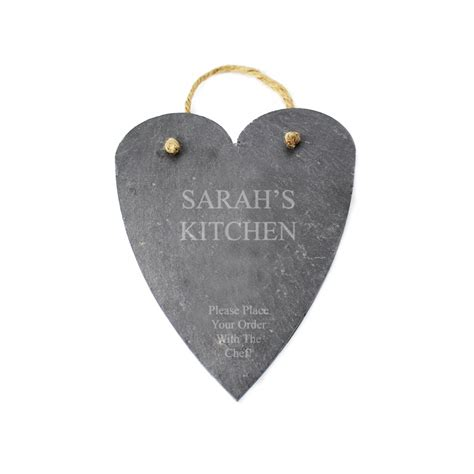 Buy Personalised Slate Hanging Heart from