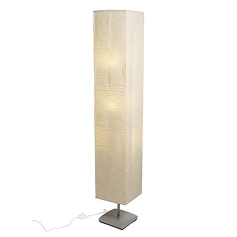 Floor Lamp with Rice Paper Shade Soft Warm Glow Perfect