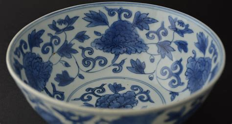 A Late Ming Blue and White Porcelain Bowl, Wanli or Tianqi