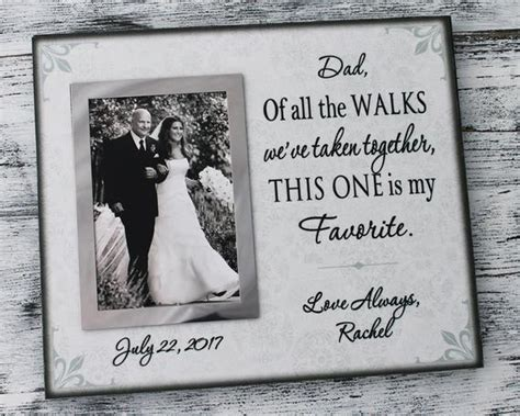 Father of the bride gift canvas quotes dad of all the walks