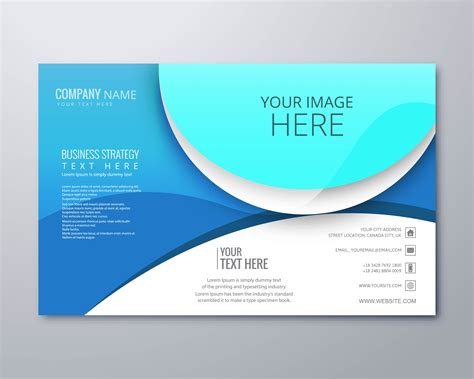Abstract creative business brochure design template