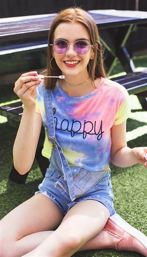 Tinsely Happy Colorful Rainbow Tie-Dye T-Shirt Tee Crop