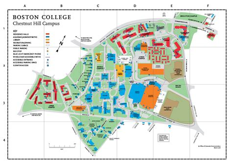 Chestnut Hill Map - About BC - Boston College